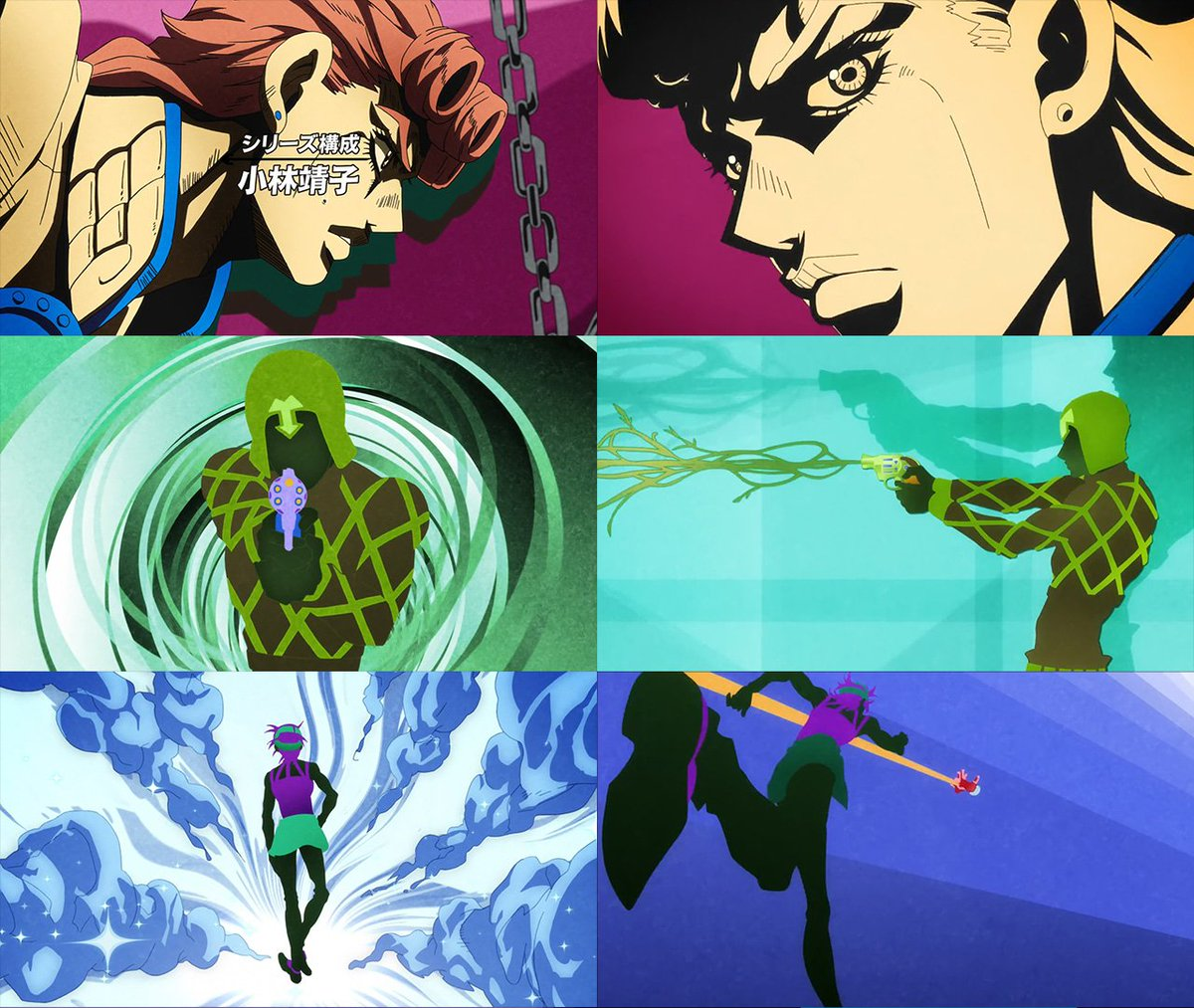 Some old ideas made it through and he maintained the stylization essentially the same. Considering how much he&#39;s used this style, it might be pretty indicative of the flair Kimura can add to Jojo, especially when (if?) he starts handling episodes himself. <br>http://pic.twitter.com/A3P32Xaf5f