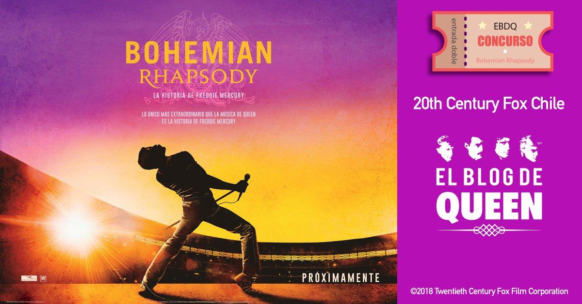 En nuestro Facebook regalaremos entradas para @BoRhapMovie cortesía de @CineFoxChile   Participa en este link: http://bit.ly/2PwtTGE  @QueenWillRock @DrBrianMay @OIQFC @OfficialRMT @MercuryMOTG