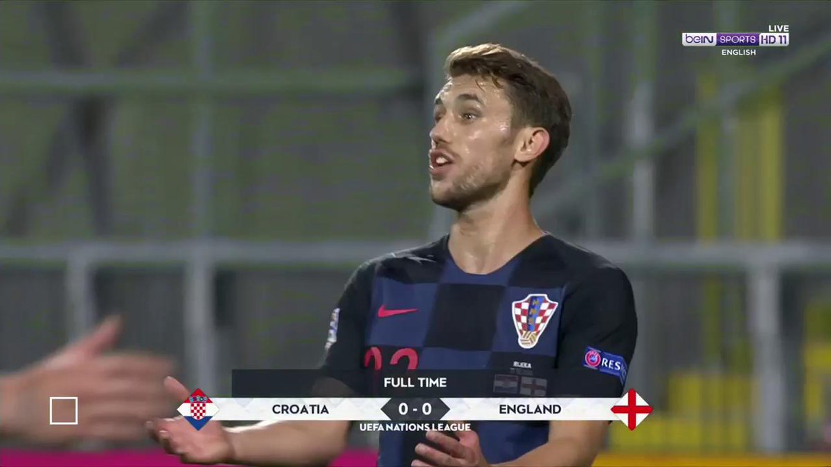FT: A quiet evening at the Stadion Rujevica sees the game end at a goalless draw.   #NationsLeague #CROENG
