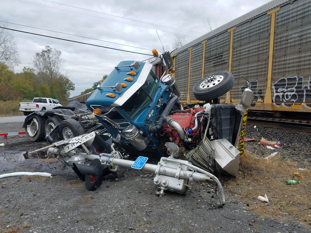 JUST IN: Train collides with tractor-trailer in Port Byron