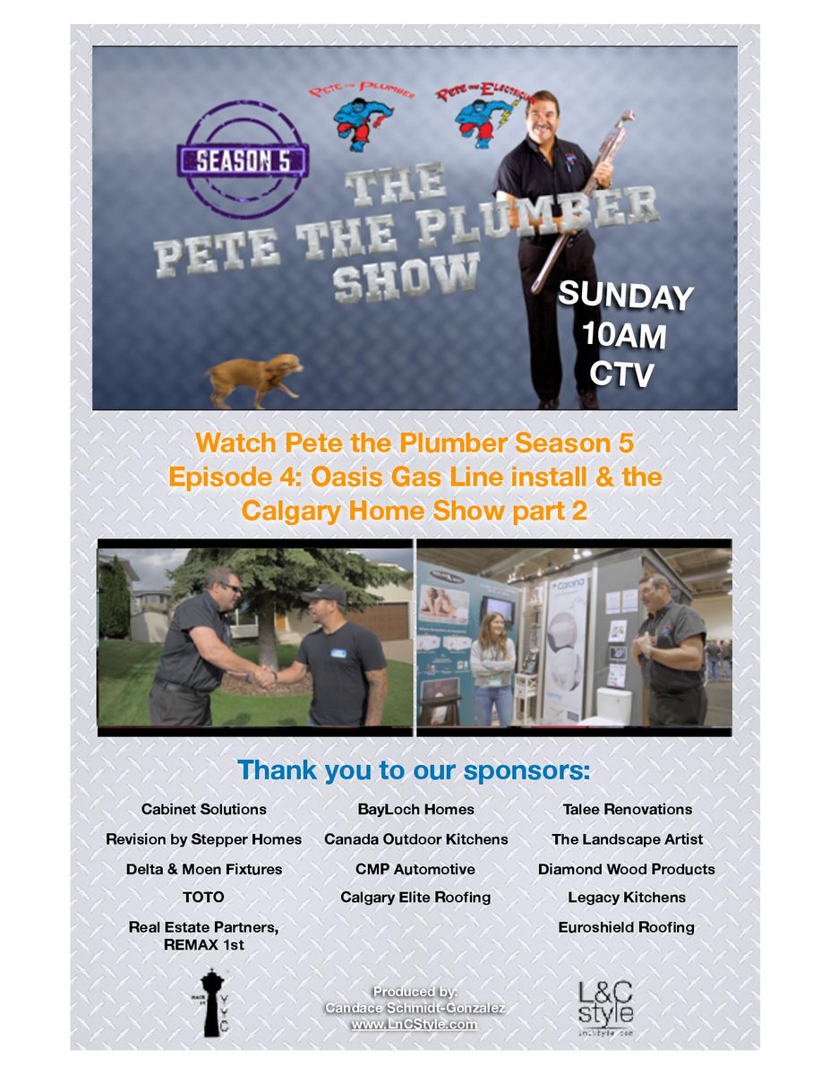 Don T Miss The Pete Plumber Show On Sunday At 10am Ctv This Week And Tom From Oasislandyyc Work Together A Backyard Gas