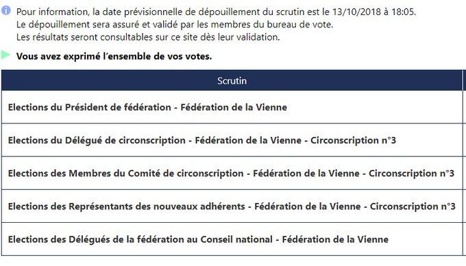 A voté 🗳💻 #ÉlectionsInternes2018 #lesRepublicains Photo
