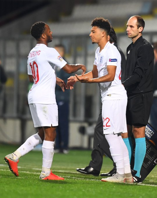 The youngest player in 63 years to make a competitive debut for @England. Bravo, @Sanchooo10 👏👏👏 #NationsLeague Photo
