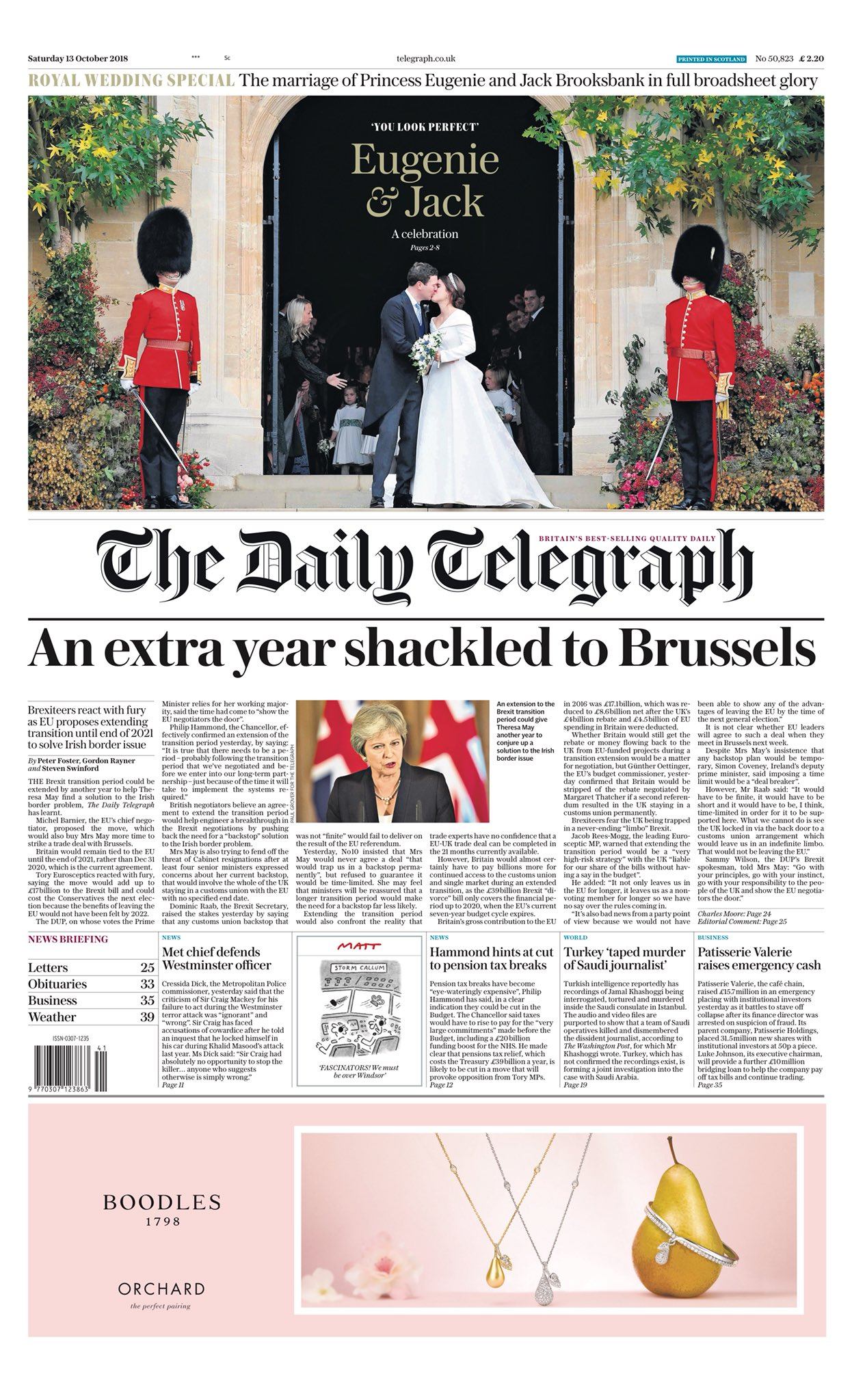 Saturday's TELEGRAPH: An extra year shackled to Brussels #tomorrowspaperstoday https://t.co/8Fwviu7idk