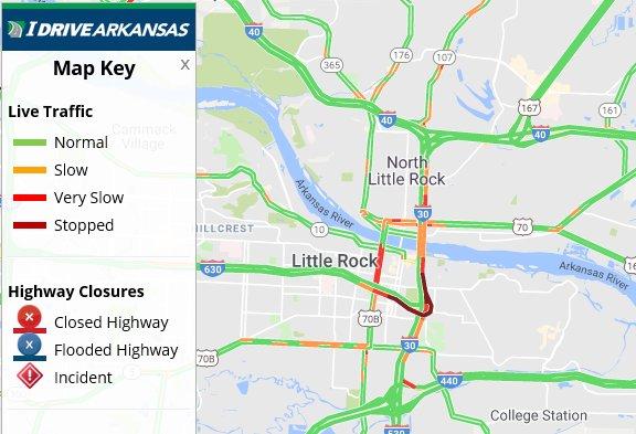 Arkansas Dot On Twitter Pulaski Co Update I 30 Eb Lanes Are