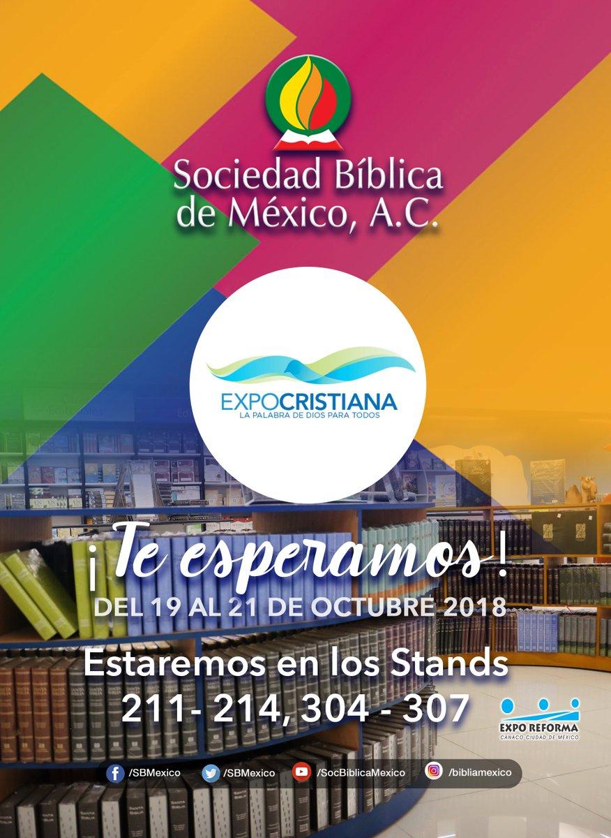 ¡Visítanos en #ExpoCristiana2018 !  #SBM #Biblias