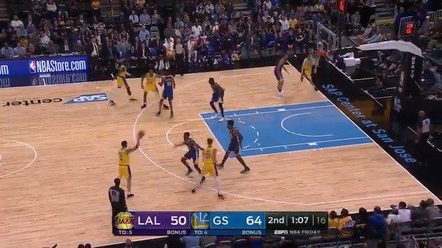 Lonzo Ball fires to Svi Mykhailiuk on the move! #NBAPreseason   ��: ESPN2 https://t.co/y6uaKqIoB1