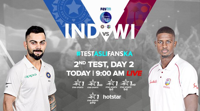Roston's 'Chase-ing' glory in the 2nd Paytm Test Cricket - #INDvWI match, and the story is far from over for West Indies! Can Team India stop the tail from wagging any longer? Find out LIVE on Star Sports. Photo