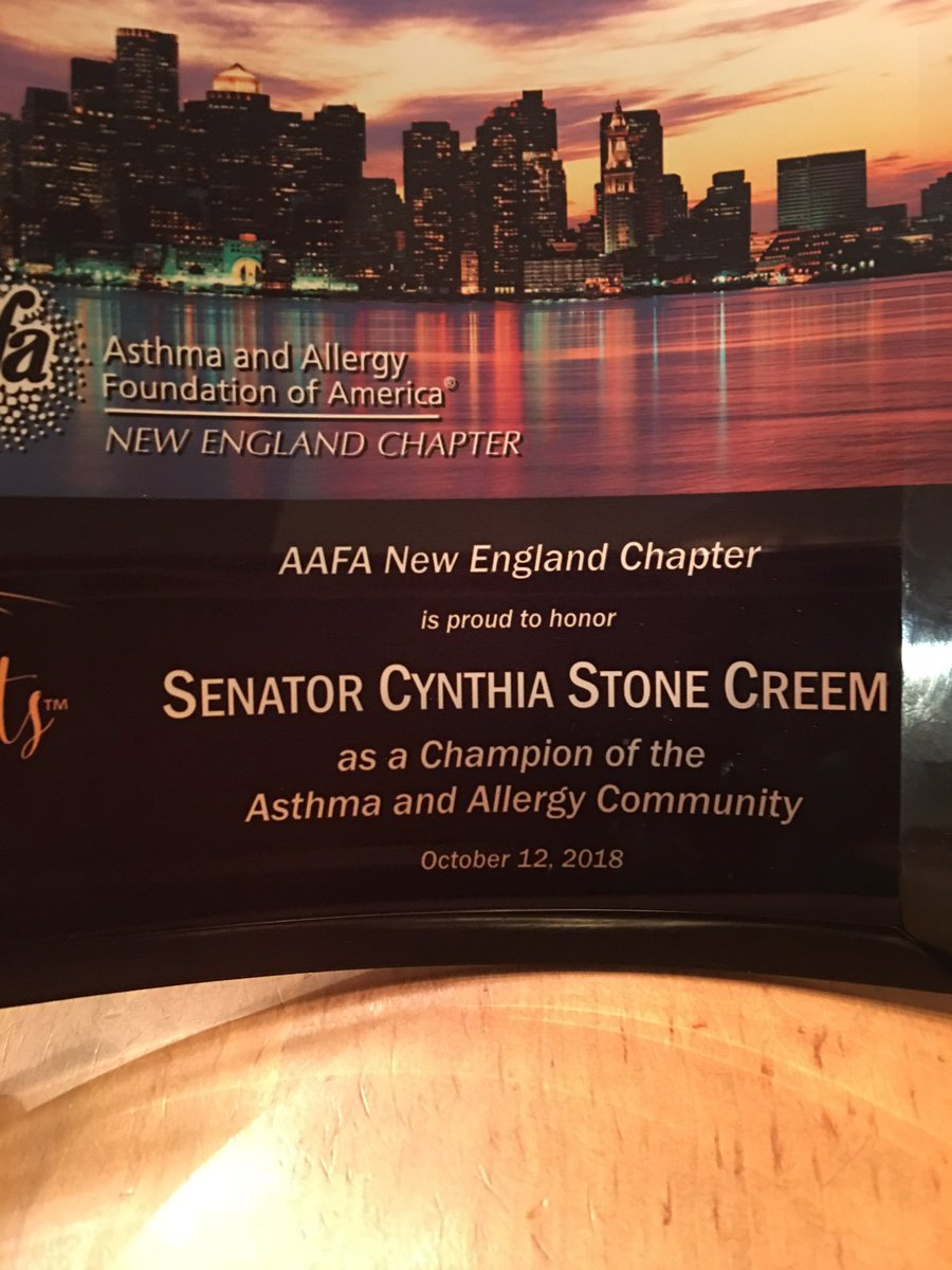 Thank you @AAFANE for honoring me tonight at you gala!! #life-without limits #allergy #asthma