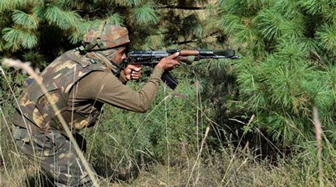#jammukashmir : One Terrorist killed in encounter with security forces in #Pulwama Photo