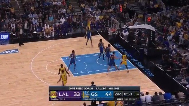 JaVale McGee steps beyond the arc! #NBAPreseason   WATCH on ESPN2 https://t.co/mBmf2bE0ht