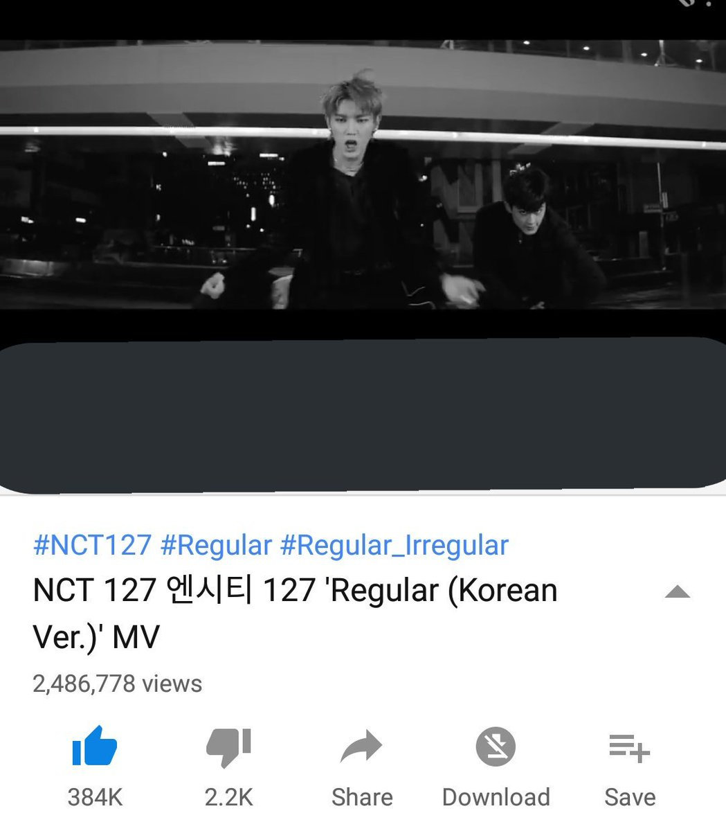 yesterday when i checked its  2, 052, 731 million views  and now its 2, 486, 778 million views   that&#39;s a slow and few increase tho  we all know yt views are important &amp; NCT worked so much for this, this mv deserves more!  LET&#39;S GET IT FAM STREAM HARDER!  #NCT127_Regular_Kor <br>http://pic.twitter.com/KFohmjphdP