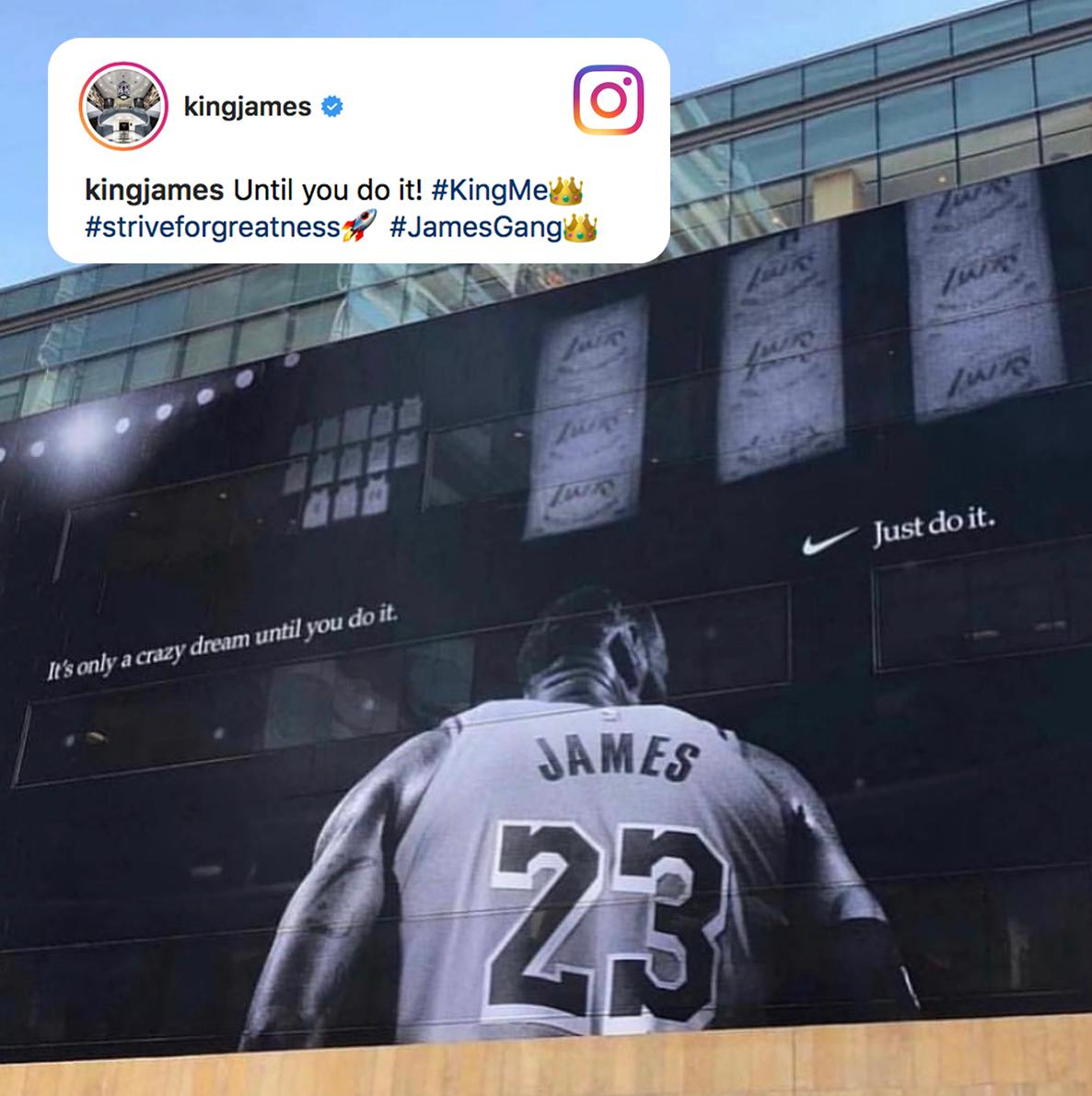 A billboard fit for a King �� (via @KingJames) https://t.co/Az7H49N8HV