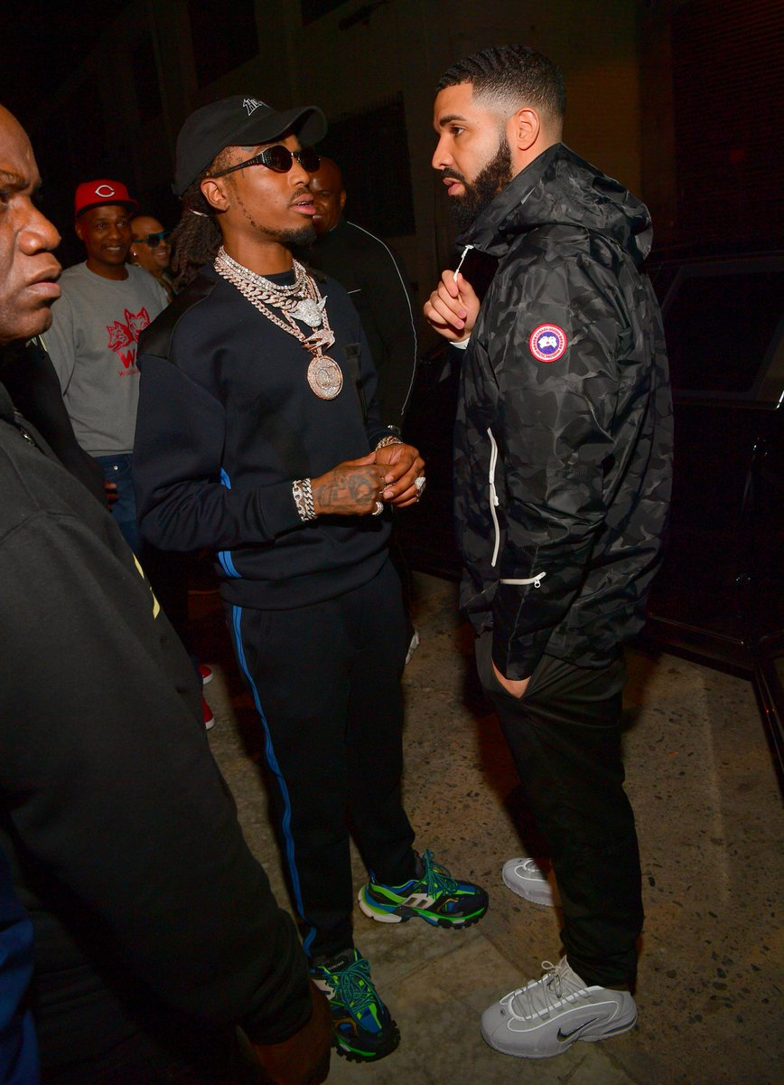 376a269641 Drake showed up to @QuavoStuntin's release party in the Nike Air Max Penny  1. Huncho in Balenciaga Track Trainers. 📸: @ATLPICS…  https://t.co/xpQuiEIAxX