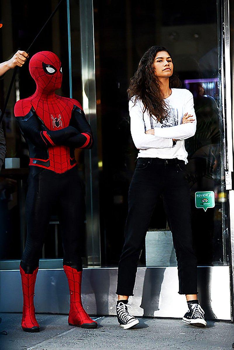 Tom Holland and Zendaya. #SpiderManFarFromHome 🕷️🕸️