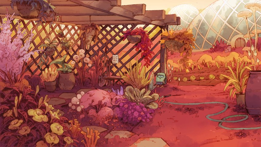 been drawing a lot of sci-fi garden/home backgrounds for work lately 💫