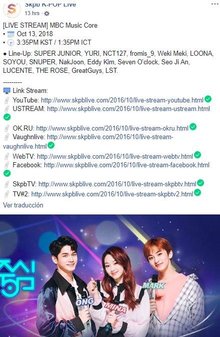 Johnanes On Twitter Live Stream Mbc Music Core Oct 13 2018 3 35pm Kst 1 35pm Ict Super Junio Onemoretime De Superjunior Sjofficial Sujupremiostelehit Https T Co Yfgszmwtjk