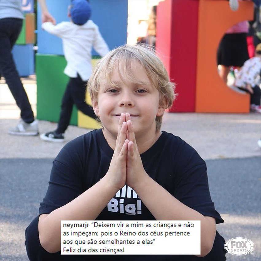 ❤ E pra fechar esse dia das crianças, uma declaração de @neymarjr para seu filho! #DiaDasCrianças