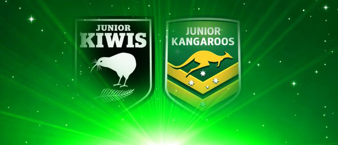 GAME ON! The Jnr Kiwis and Jnr Kangaroos are about to do battle. Follow LIVE: #RoosKiwis Photo