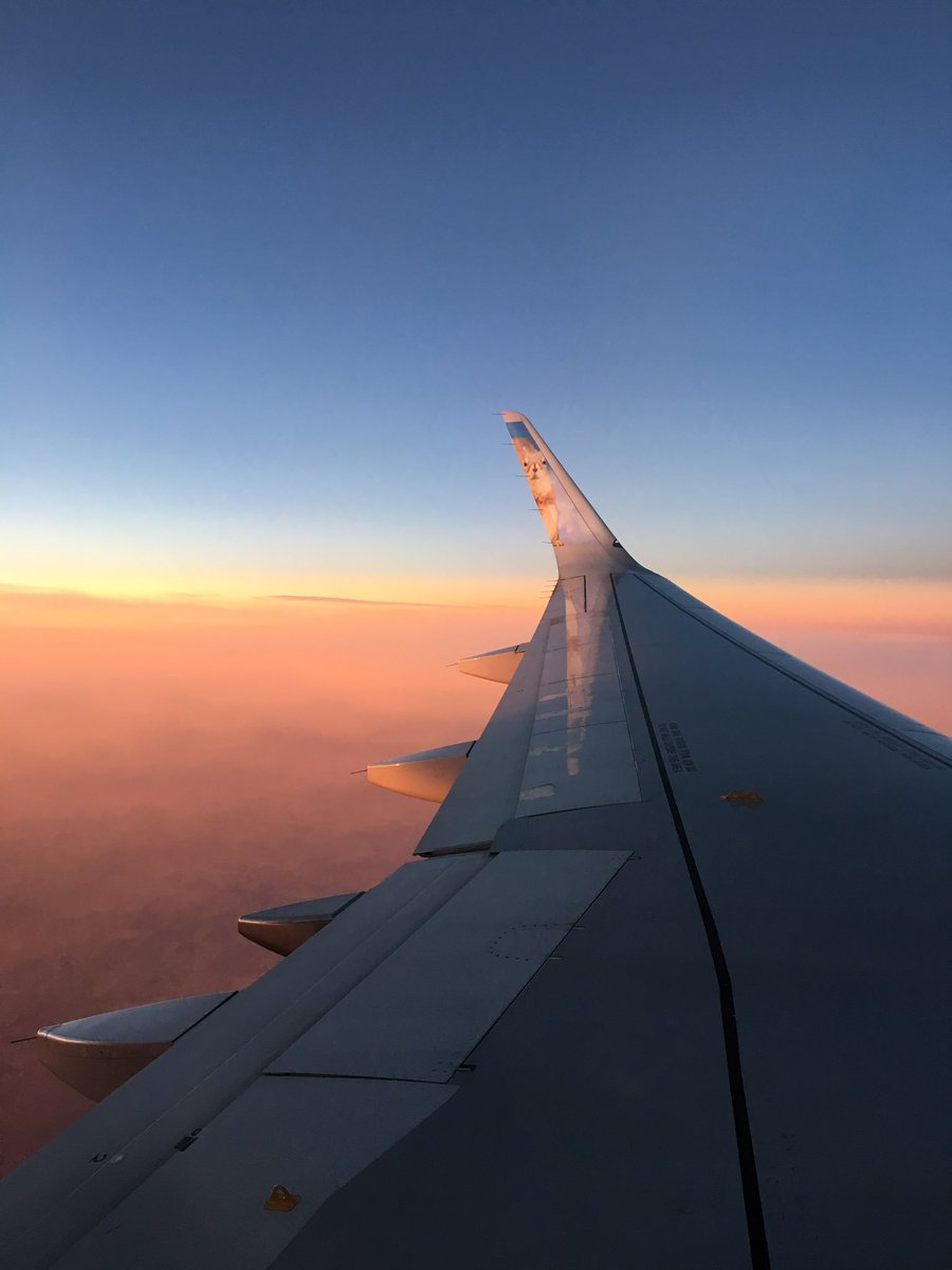 Sunset picture! From however high up cruising altitude is.