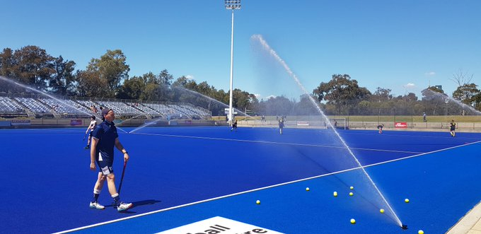 The pitch is ready and so are the Victorian Vikings for Round 2 of the @HockeyAustralia Australian Hockey League. Tip-off is set for 2pm, so head down to the @SNHC_Vic for a great afternoon of hockey! #AHL2018 #vicsdoitbetter Photo