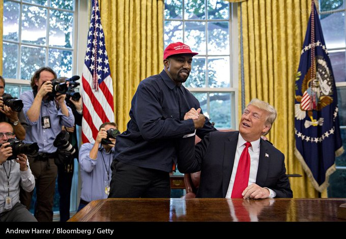 The wider Kanye West gesticulated, the wider Donald Trump smiled: Photo