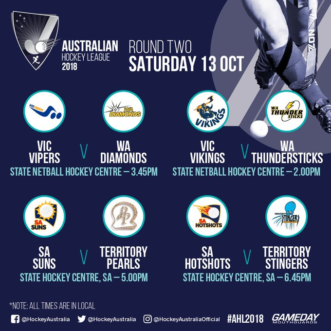 Not long until Round 2 of #AHL2018 commences today! Are you attending in Melbourne or Adelaide? Preview > Photo