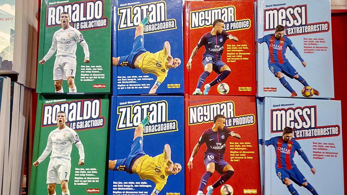 Salut à tous.tes.sses ! Je suis ce weekend à la #Fetedulivre de #SaintEtienne pour présenter mes 4 #Marvels : #CR7 (#Ronaldo) + #Messi + #Zlatan + #Neymar ! ! Venez http://nombreux.ses pour les dédicaces !Ch&  - FestivalFocus