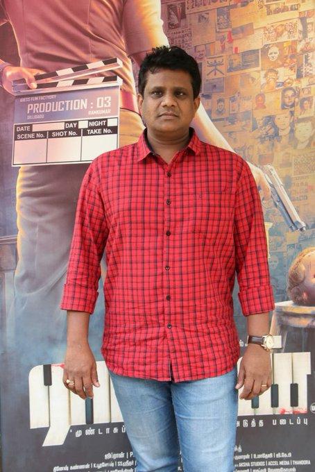 Producer Dilli Babu of @AxessFilm has arrived for #RatsasanSuccessMeet Photo