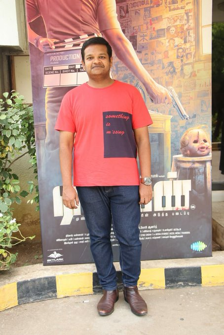 Music Director @GhibranOfficial has arrived for #RatsasanSuccessMeet Photo