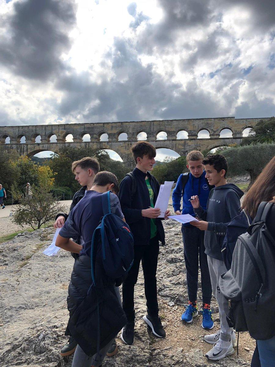Beechen Cliff French exchange students sight-seeing around Montpellier.