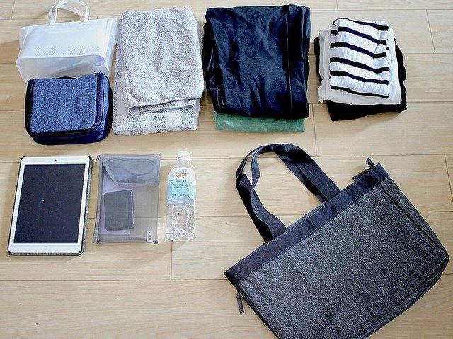 無印の荷物の量で広げられるトートバッグが仕事に旅行に役立ちそう!