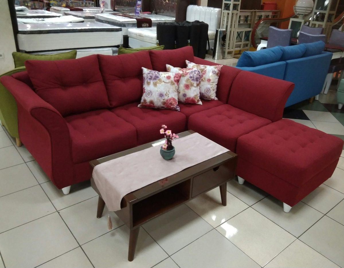 Sofa L lady red