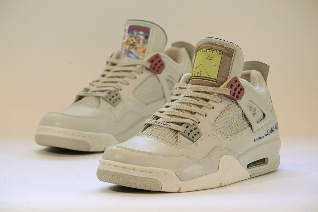 These custom Game Boy Nike Jordan IV's