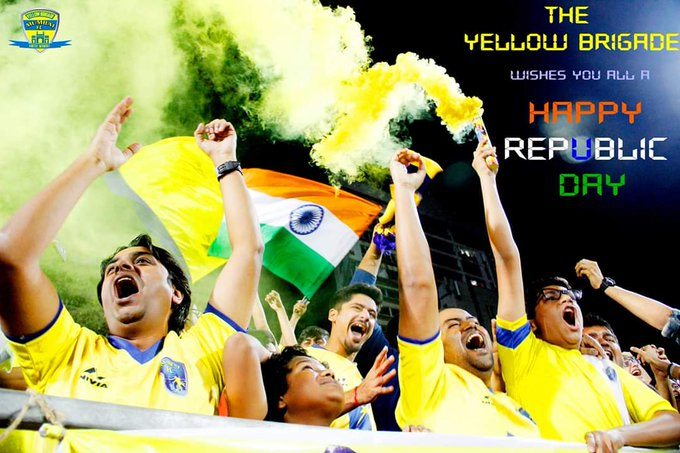 ThrowBack to this bunch of awesome people called the @_YellowBrigade #CHNvIND #BackTheBlue Photo