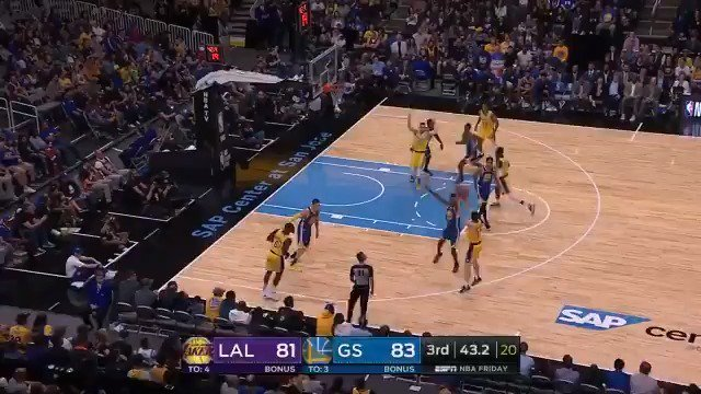 SVI FOR 3 to put the @Lakers in front on ESPN2! #NBAPreseason https://t.co/cue99Kdhvr