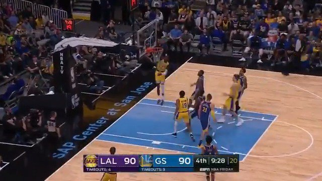 Isaac Bonga takes it himself! ��  WATCH on ESPN2 https://t.co/WKgtXfFJ0C