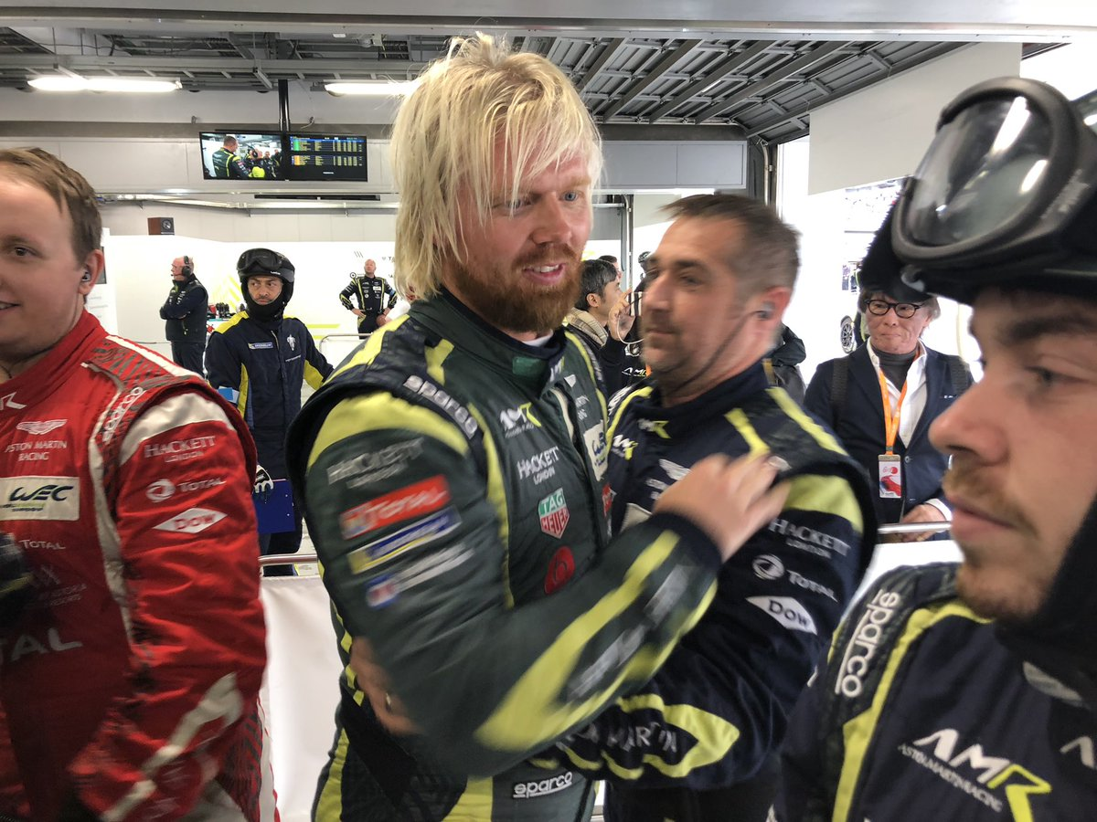 With pole position secured in…