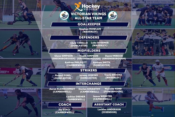 Congratulations to all of the players and coaches named in the Victorian Vikings All-Star Team, honouring the very best players and coaches of the past 17 years of Victorian Vikings. 👏👏👏 #AHL2018 @HockeyAustralia Photo
