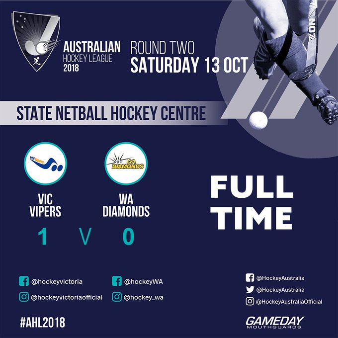 A goal in the 59 from Victorian Madi Ratcliffe sees the Vipers secure their second win of the #AHL2018! #VicsDoItBetter @HockeyAustralia @Doncaster_HC Photo