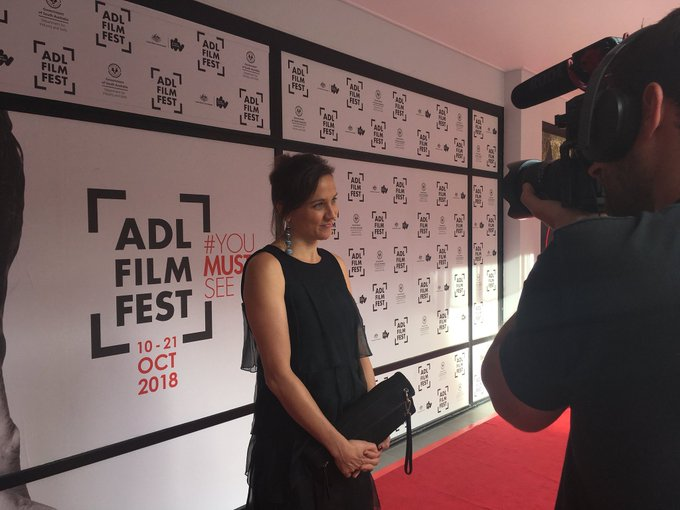 Producer of The Nightingale, Kristina Ceyton, has arrived on the #ADLFF red carpet for the film's Australian Premiere ✨ Photo