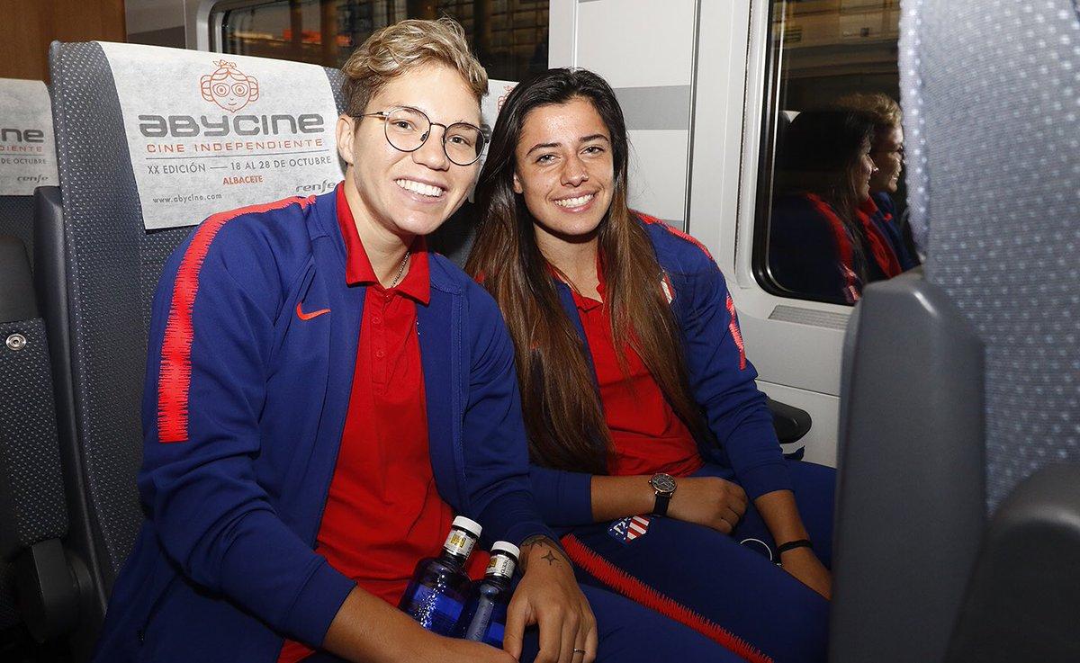 🚅 ¡Salimos hacia Sevilla! 😃 ¡Ganas de ⚽️! #AúpaAtleti #SevillaFCAtleti