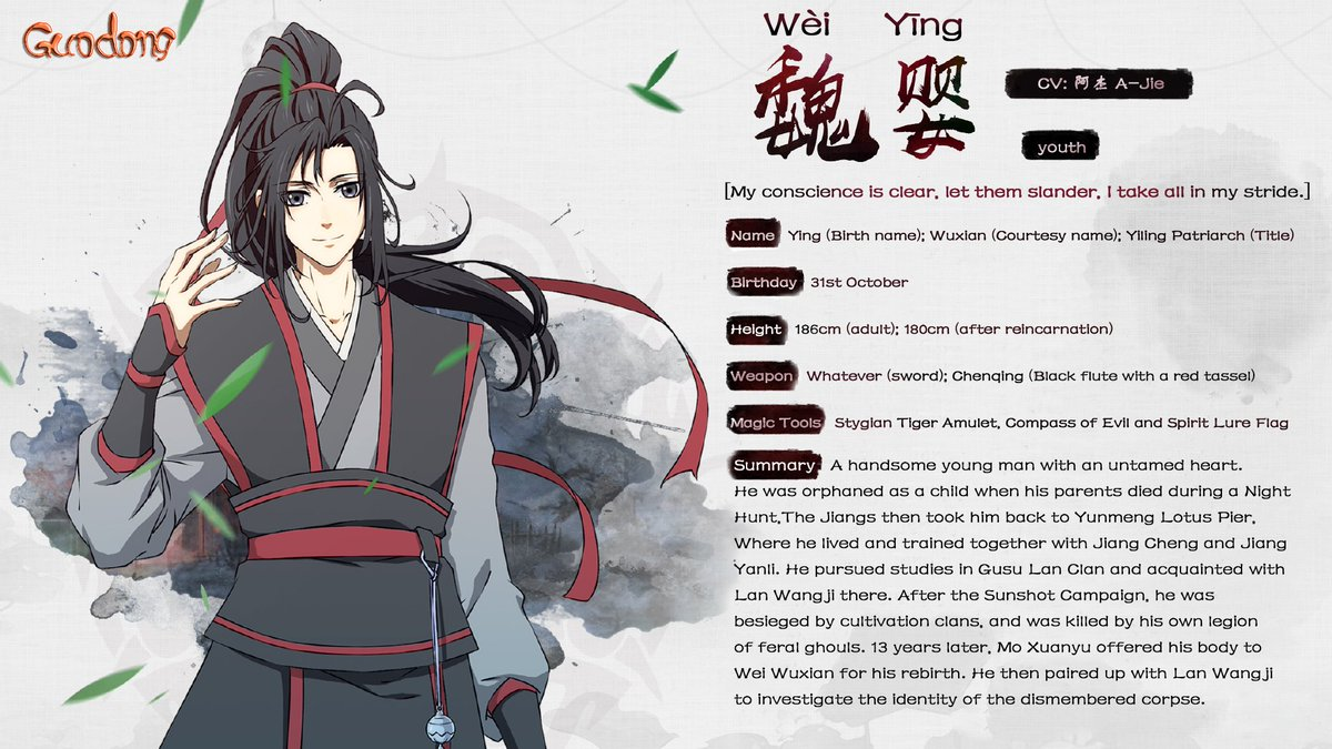 Grandmaster of Demonic Cultivation - Wei Wuxian