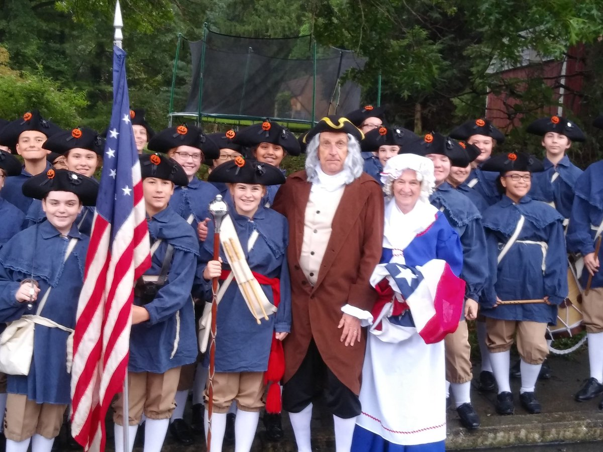 A little rainy this morning in Millersville PA but with an assist from Betsy Ross &  Ben Franklin we will stay warm and dry!!  Huzzah!!!