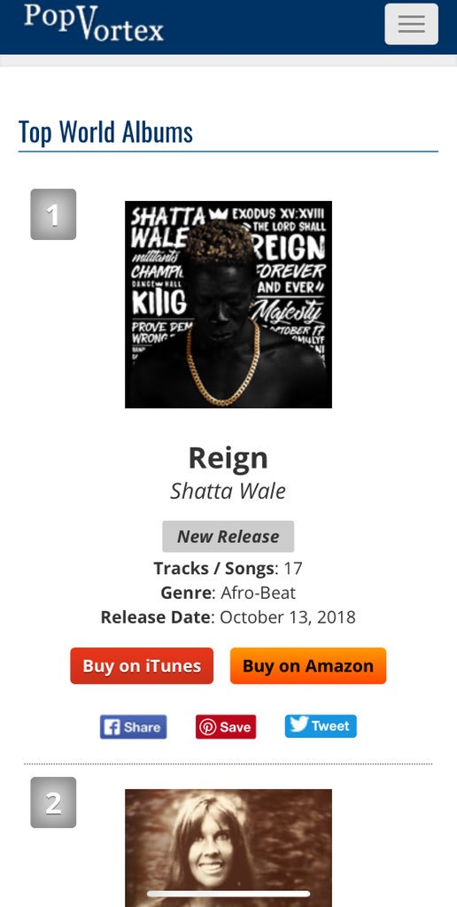 🙏🏾🙏🏾🙏🏾 http://www.popvortex.com/music/charts/top-world-music-albums.php … #TheReignAlbum