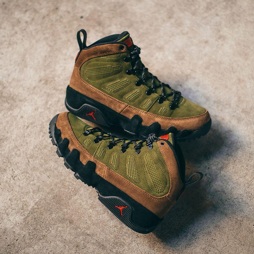 Air Jordan 9 Retro NRG Boots Olive  http   bit.ly 2OqXeWQ Wheat   http   bit.ly 2OjN0r3 Black  http   bit.ly 2OqWYXS  pic.twitter.com srM4Rgbs11 802a54e1d