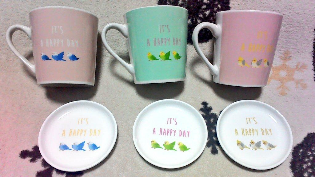 test ツイッターメディア - 【鳥グッズ】 ダイソーにセキセイインコとオカメインコのマグカップ、小皿、お箸と箸置きのSETがあったよ?いずれもセキセイ2種、オカメ1種。 マグカップの後ろも可愛いー????  #ダイソー #鳥グッズ #セキセイインコ #オカメインコ https://t.co/ckTm7dZQup