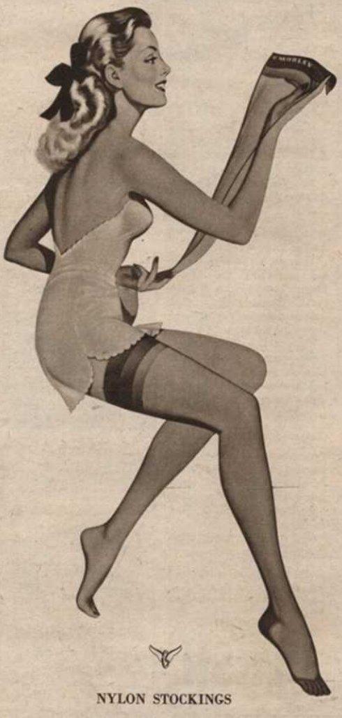 Think transvestite in stockins