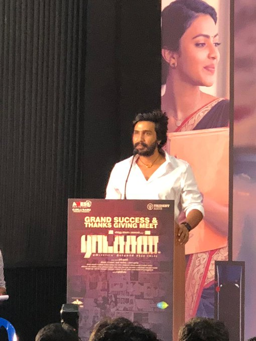 Actor @vishnuuvishal says that content will always win and is very happy that the movie is a great hit ! He thanks everyone behind the success of the movie #RatsasanSuccessMeet Photo