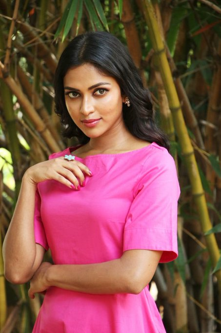 @Amala_ams Looks Very pretty in Pink 💗, And congrats for your 35th successfull flim. #RatsasanSuccessMeet Photo